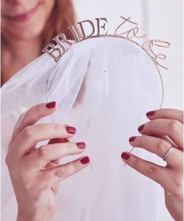 Serre-tête Bride to be métallique