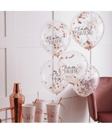 "Ballons Confettis et Messages "" Team Bride"""