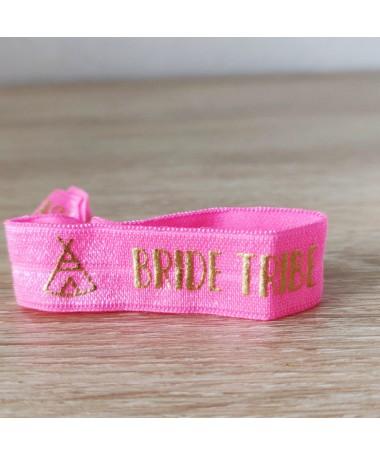 "Bracelet EVJF ""Team Bride Tipi"" rose flashy"