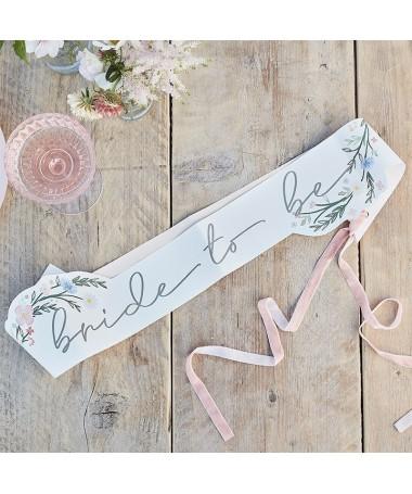 Echarpe Bride to be Boho fleurie