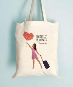 Tote Bag Maitresse en vacance personnalisable