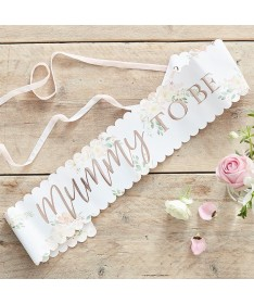 """Echarpe Florale Baby Shower """"Mummy to be"""""""