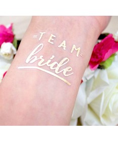 "Tatouage éphémère EVJF ""Team Bride"" gold"
