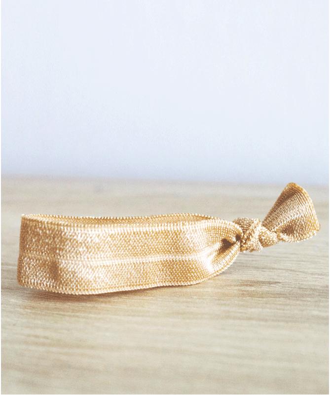 Bracelet élastique Doré