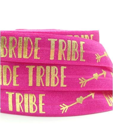 """Bracelet élastique """"Team Bride Flèche"""" Rose"""