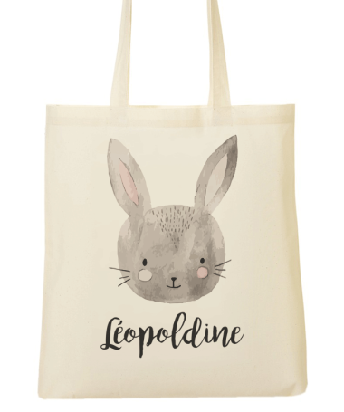 Tote Bag Lapin Souriant