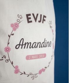 Tote Bag EVJF Couronne de Fleurs