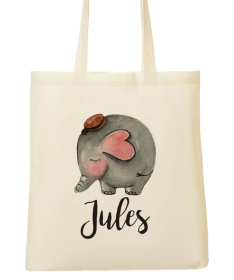 Tote Bag Enfant Animal Elephant