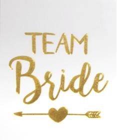 "Tatouage temporaire EVJF ""Team Bride"" flèche gold"
