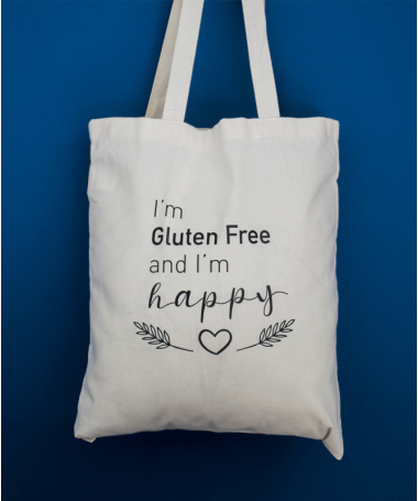 Tote bag I'm Gluten Free and I'm Happy !