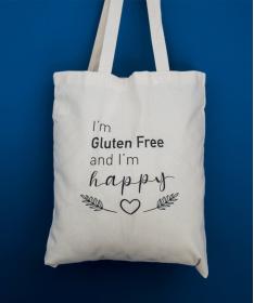 Tote bag I'm Gluten Free and I'm Happy !