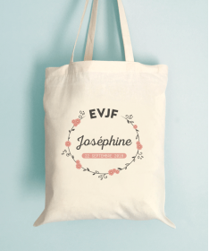 Tote bag EVJF - Couronne de fleurs