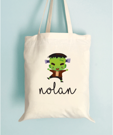 Tote Bag Enfant Monstre d'Halloween