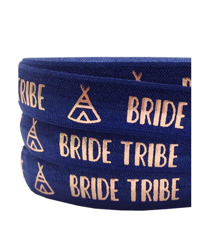 Bracelet Elastique Bride Tribe Tipi Bleu