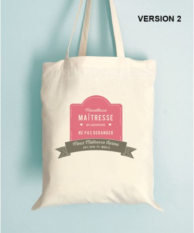 Tote Bag Merci Maitresse - ATSEM - Nounou