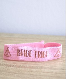 "Bracelet EVJF ""Team Bride Tipi"" Rose"