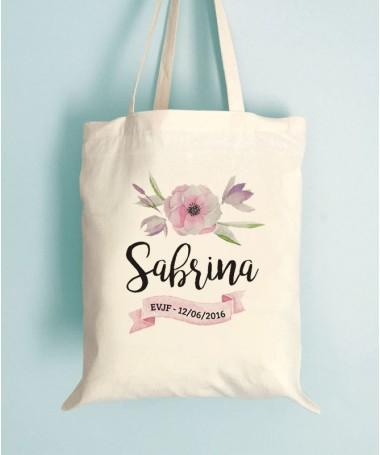 Tote Bag EVJF - Fleur et ruban