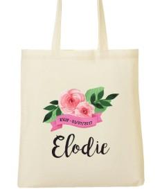 Tote Bag EVJF Fleurs Ruban