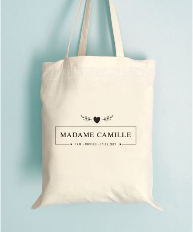 Tote Bag EVJF Madame Personnalisable