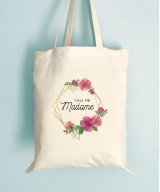 Tote Bag EVJF Fleuri Call me Madame