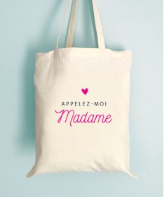 Tote Bag EVJF Appelez moi Madame coeur