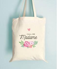 Tote Bag EVJF Floral Call me Madame
