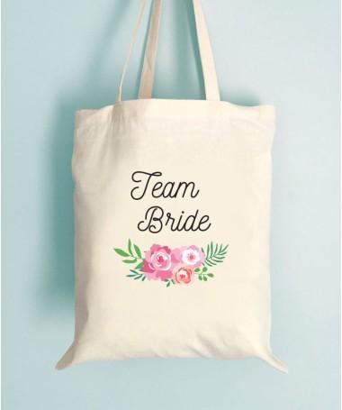 Tote Bag EVJF Floral Team Bride
