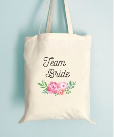 Tote Bag EVJF Floral Team Bride