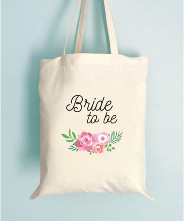 Tote Bag EVJF Floral Bride to Be