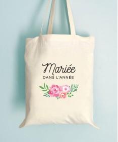 Tote Bag EVJF Floral Mariée dans l'année