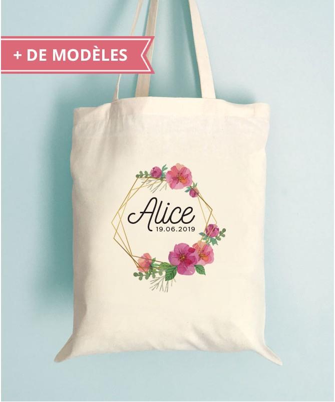 Tote Bag EVJF Fleuri Personnalisable