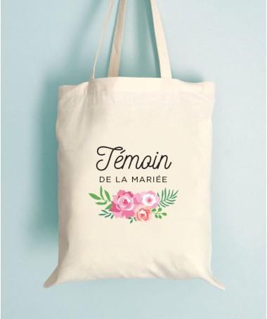 Tote Bag EVJF Floral Témoin de la mariée