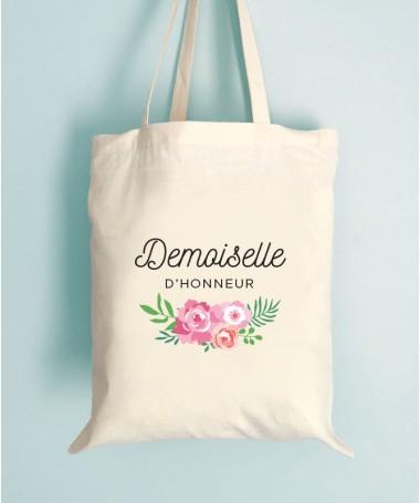 Tote Bag EVJF Floral Demoiselle d'honneur