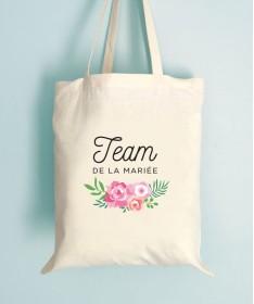 Tote Bag EVJF Floral Team de la Mariée