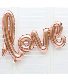 "Ballon EVJF ""Love"" ou mariage Or Rose"