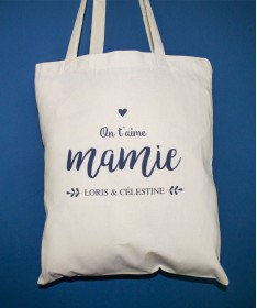 Tote Bag On t'aime Mamie