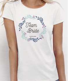 "Tee Shirt EVJF ""Team Bride"" personnalisé fleuri - Future mariée et sa team ♡"