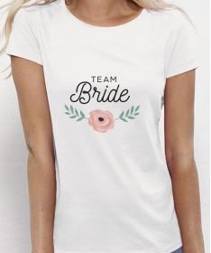 T-shirt EVJF personnalisé fleur rose - Pour la mariée et sa team