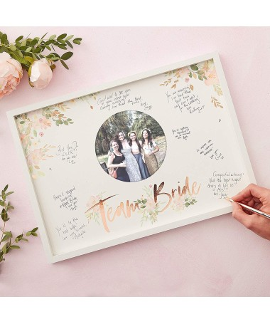 Guest Book Team Bride Fleuri
